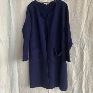 Boden Long Boiled Wool Jacket